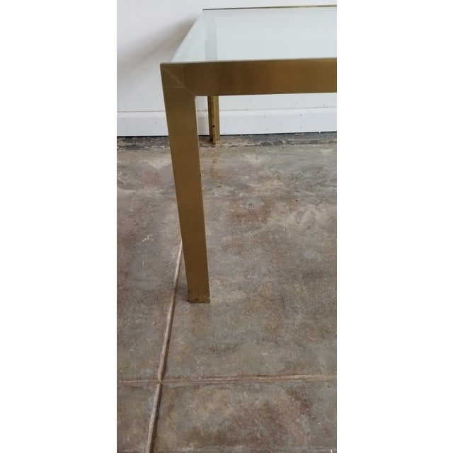 Mid-Century Modern 1970s Mid-Century Modern Solid Brass Coffee Table For Sale - Image 3 of 5