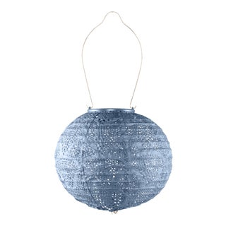 Soji Stella Outdoor Globe Lantern in Sky Blue For Sale