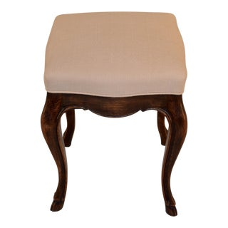 19th Century French Stool With Carved Hoof Feet For Sale