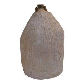 Rare Antique Glass Demijohn in Clay For Sale