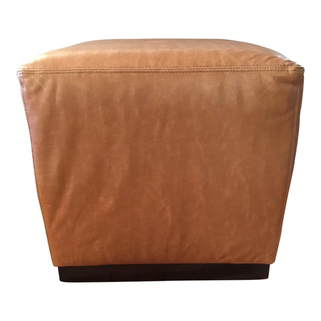 Williams-Sonoma Home Robertson Leather Ottoman - Image 1 of 6