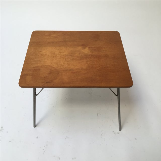 Industrial Vintage Eames IT-1 Child Size Folding Table For Sale - Image 3 of 11