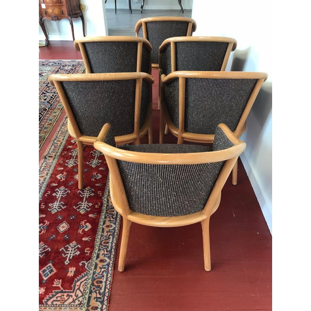 "Ward Bennett for Brickel Associates (Now Geiger) ""Landmark Chair"" From Herman Miller - Set of 6 For Sale - Image 5 of 11"