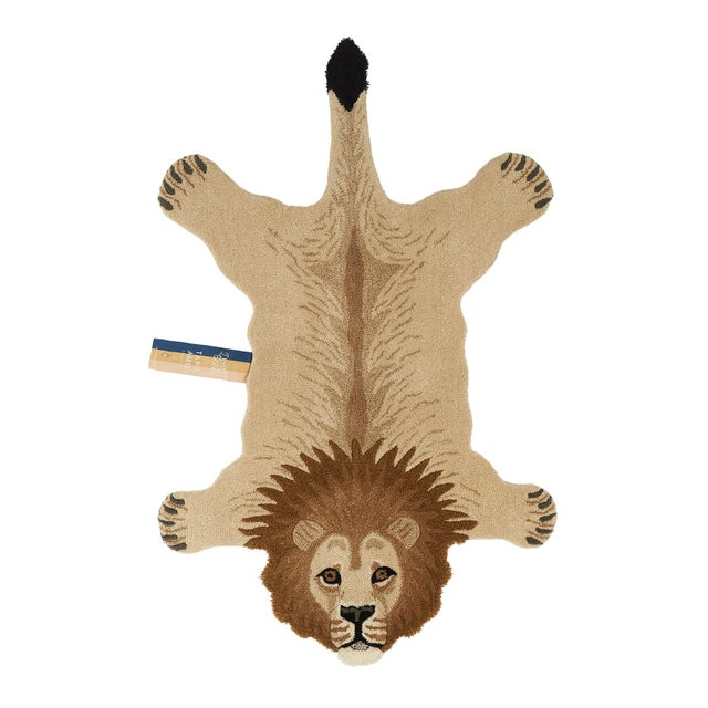 Doing Goods Moody Lion Rug Large For Sale - Image 6 of 6