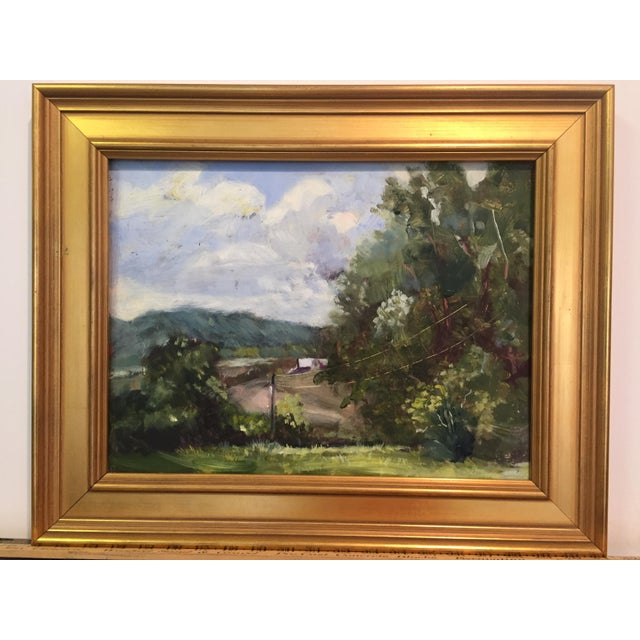 A rolling hills Missouri farm painted plein air by the artist Marina Movshina. This is an original oil painting. The...