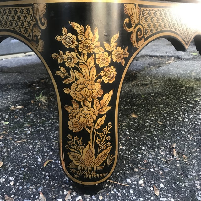 Art Nouveau Ebonized and Stenciled Coffee Table For Sale - Image 10 of 12