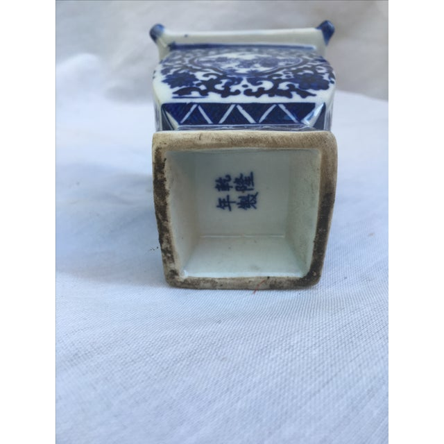 Blue & White Lidded Pagoda Vases - A Pair - Image 9 of 9