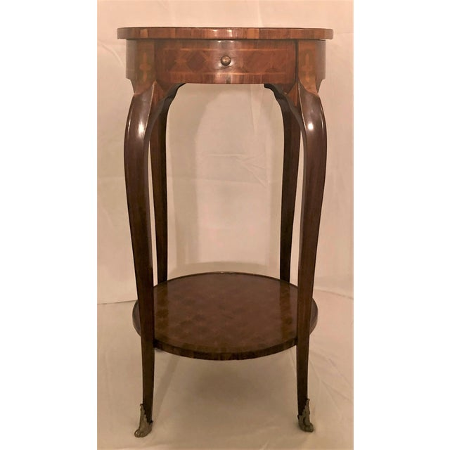 Late 19th Century Antique Exceptional Inlaid Parquetry Table, Circa 1860-1870. For Sale - Image 5 of 5