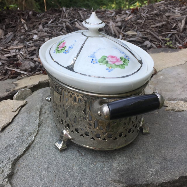 Vintage Royal Rochester Tureen in Silver Caddy - Image 3 of 10