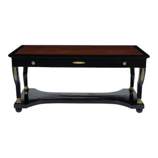 French Empire-Style Ebonized Desk For Sale