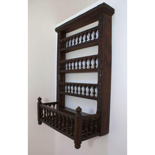 French 19th Century French Fruitwood Hanging Shelf For Sale - Image 3 of 5