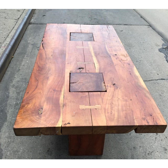Walnut Free Edge Dining Table For Sale - Image 4 of 7