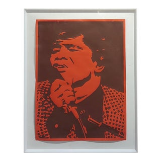 Bob Stanley - James Brown -Original 1960s Lithograph For Sale
