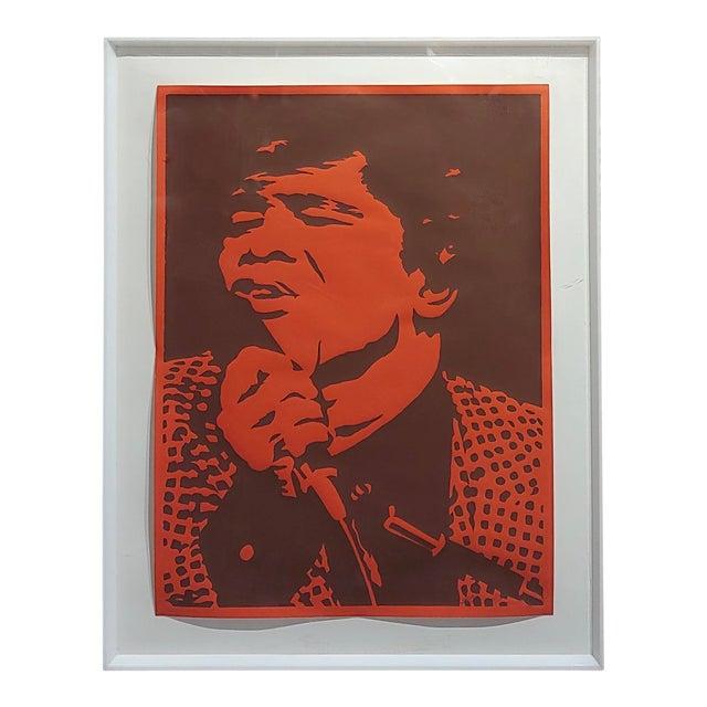 Bob Stanley - James Brown -Original 1960s Lithograph For Sale