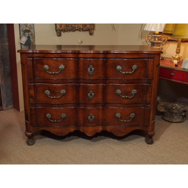 Louis XV Walnut Commode For Sale - Image 9 of 9