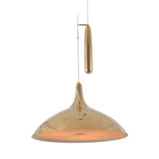 Paavo Tynell Brass Counter Weight Pendant Lamp A1965, Taito Oy, Finland, 1950s For Sale
