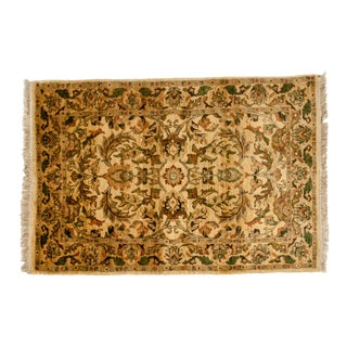 Persian Pure Wool Hand Knotted Area Rug - 5′ × 7′2″ For Sale