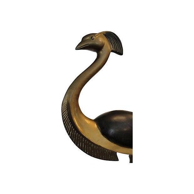 Vintage Bronze Bird Sculpture - Image 3 of 7