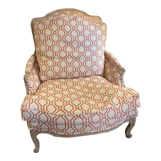 French Louis XV Style Bergere Chair For Sale