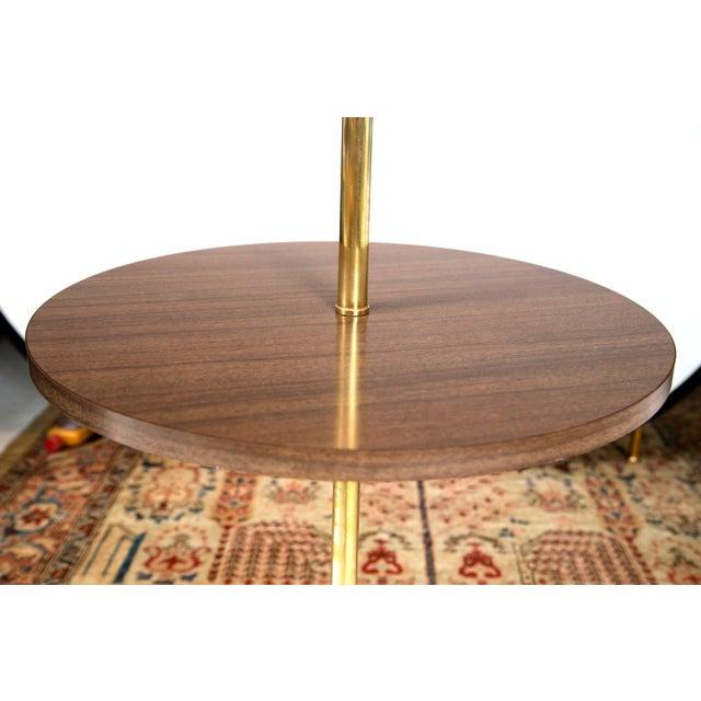 Mid Century Brass Formica Table Floor Lamp Chairish
