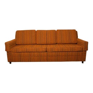Mid-Century Era 2-Seat Tweed Couch With Pullout Bed