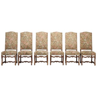 French Set of (6) Os De Mouton Dining Chairs For Sale