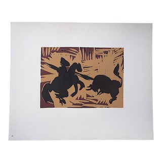 """Vintage Mid 20th C. Ltd. Ed. Picasso Lithograph-""""Pique"""" For Sale"""