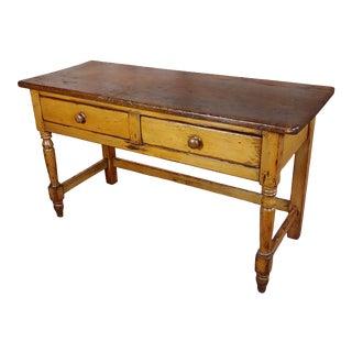 2900 19th Century Antique Pine Farm Console Table Server For Sale