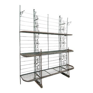 Early 20th Century French Iron Baker's Rack For Sale