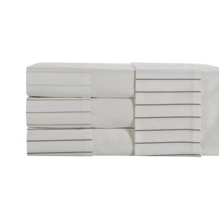 Portofino Oxford Stripe Flat Sheet King - Graphite For Sale