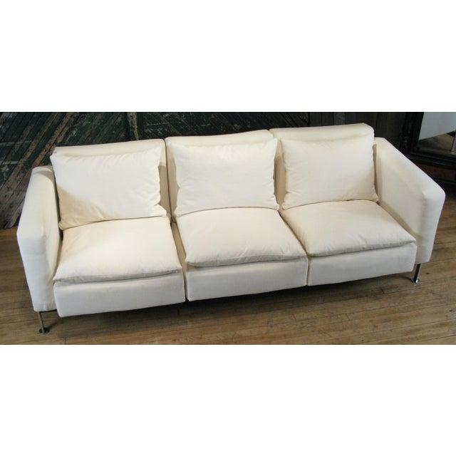 Bauhaus 1960s Polished Steel Sofa by Robert Haussmann for Hans Kaufeld For Sale - Image 3 of 9