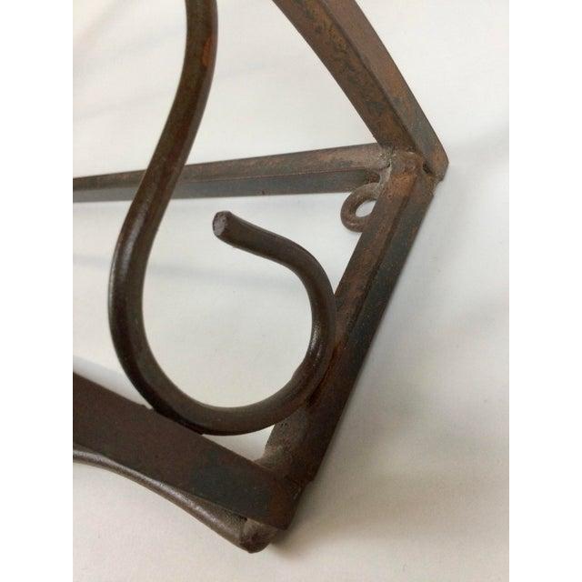 Copper Vintage Steel Wall Pan Holder Shelf For Sale - Image 8 of 13