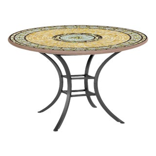 """Malibu 42"""" Bistro Table with Black Base For Sale"""