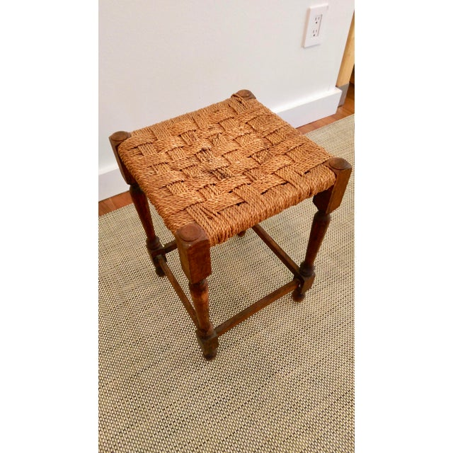 19th-C. Turned Wood & Rope Stool For Sale In Dallas - Image 6 of 9