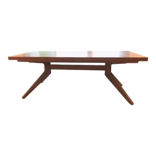Design Within Reach Walnut Cross Extension Dining Table For Sale
