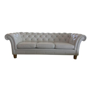 Tufted Leather Chesterfield Sofa