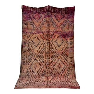 """Beni M'guild Vintage Moroccan Rug, 6'5"""" X 10'9"""" For Sale"""