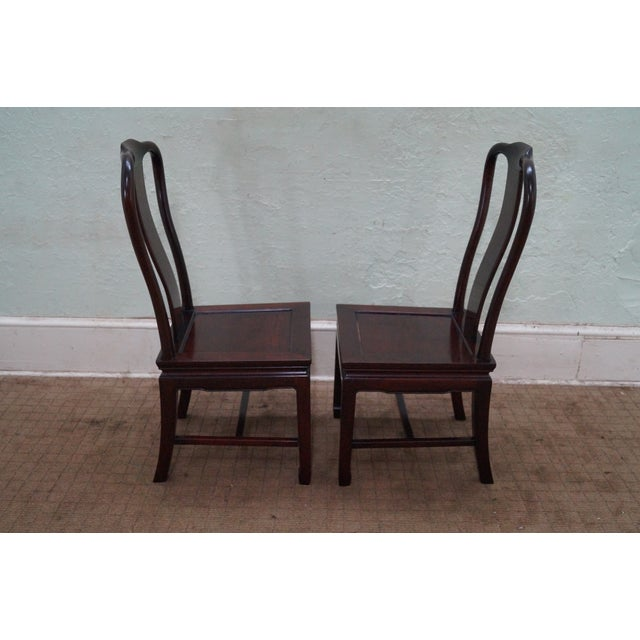 Chinese Rosewood Dining Chairs - Set of 4 - Image 3 of 10