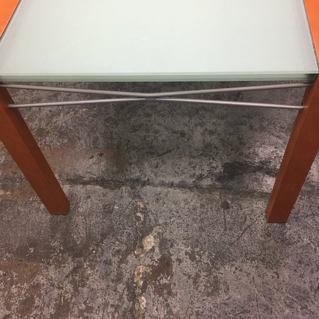 Ligne Roset Extensia Cherry & Glass Dining Table For Sale In San Francisco - Image 6 of 10