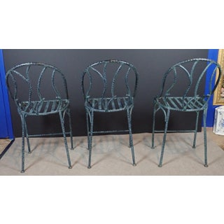Late 20th Century Wrought Iron Branch Form Counter Barstools - Set of 3 Preview