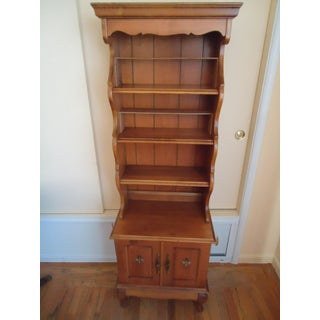 20th Century Traditional Maple Wood Bookcase Display Cabinet Preview