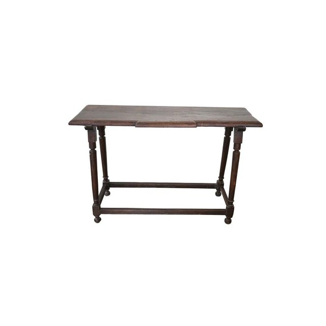 Brown Spanish Walnut Console For Sale - Image 8 of 8