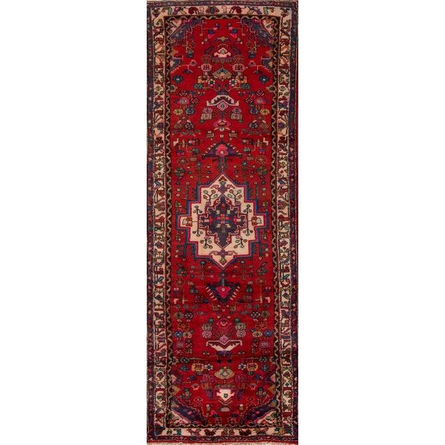 "Apadana - Vintage Persian Hamadan, 3' x 10'4"" - Image 5 of 5"