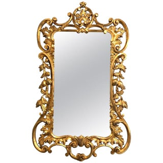 19th-20th Century Giltwood Continental Wall, Console or Pier Mirror For Sale