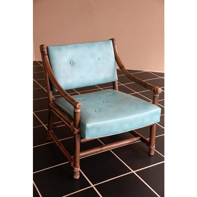 McGuire Bamboo, Leather & Rawhide Chairs - A Pair - Image 3 of 6