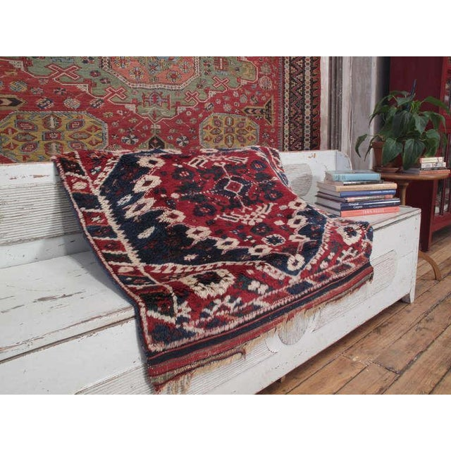 Boho Chic Antique Bergama Rug For Sale - Image 3 of 9