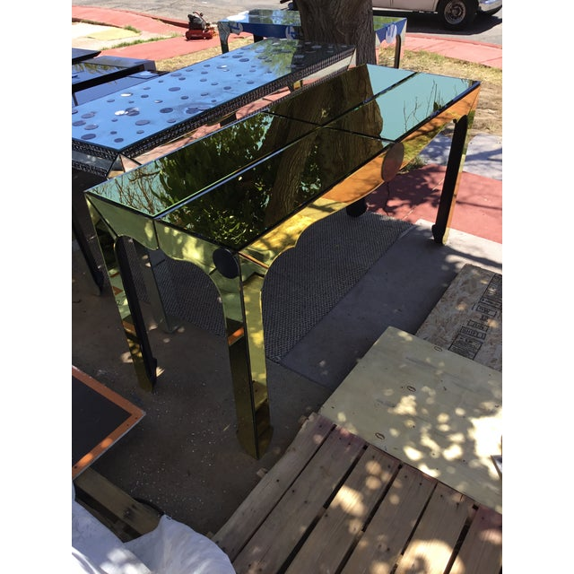 Gold Beveled Mirror Hall Table - Image 8 of 10