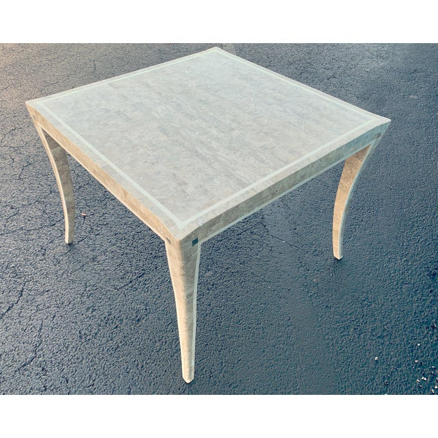 Asian Maitland Smith Gaming Table in Tessellated Marble. America, Circa 1970 For Sale - Image 3 of 11