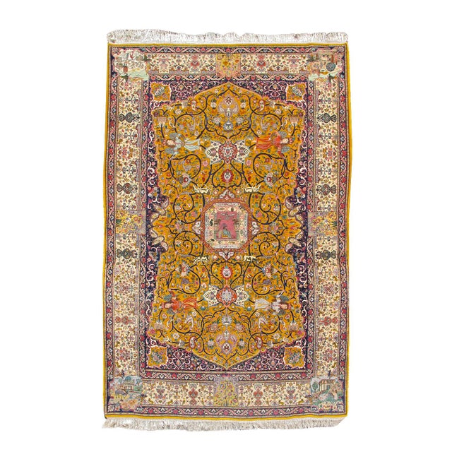 Islamic Tabriz Persian Rug - 6′4″ × 10′4″ For Sale - Image 3 of 3