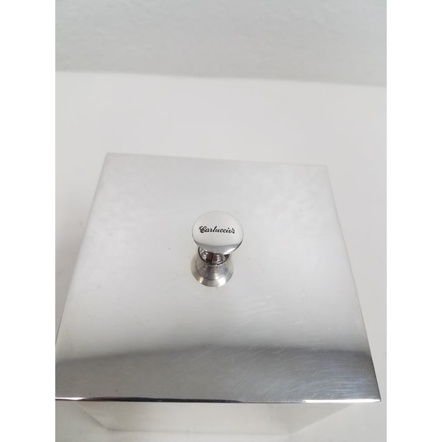 English Carluccio Vintage Silverplate Box For Sale - Image 3 of 9